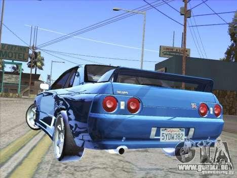 Nissan Skyline GT-R 32 1993 pour GTA San Andreas laissé vue