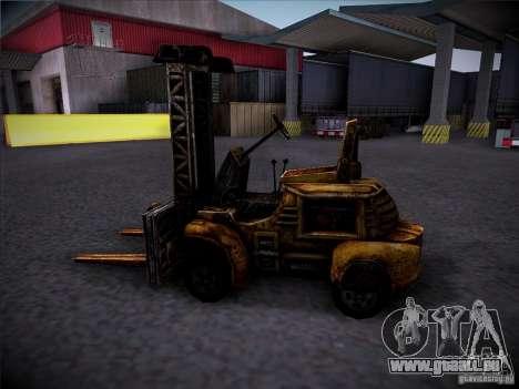 Chariot élévateur du TimeShift pour GTA San Andreas vue de droite