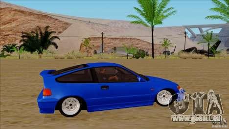 Honda CRX Hella Flush pour GTA San Andreas vue arrière