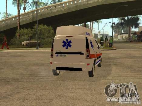 Dacia Logan Ambulanta pour GTA San Andreas vue de droite