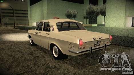 Volga GAZ-24 Taxi 01 pour GTA San Andreas sur la vue arrière gauche