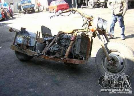 Harley Davidson Home-Made für GTA 4 rechte Ansicht