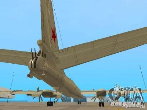Tu-95 pour GTA San Andreas vue intérieure