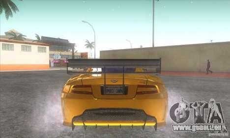 Aston Martin DB9 MW pour GTA San Andreas sur la vue arrière gauche
