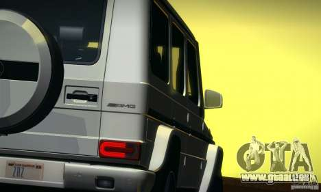 Mercedes-Benz G65 AMG 2013 für GTA San Andreas Innenansicht