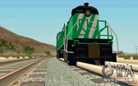 BURINGTON NORTHERN RS3 für GTA San Andreas Rückansicht