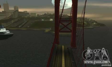 Pont détruit à San Fierro pour GTA San Andreas quatrième écran