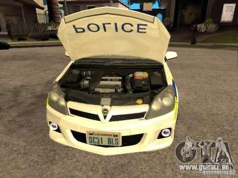 Opel Astra 2007 Police pour GTA San Andreas vue de droite