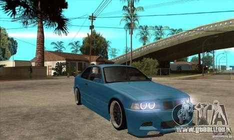 BMW M3 HAMMAN pour GTA San Andreas vue arrière