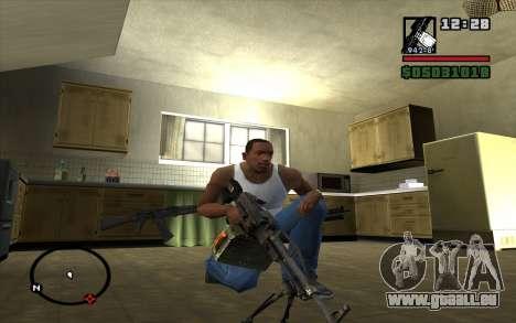 PKP Pecheneg Maschinengewehr für GTA San Andreas zweiten Screenshot