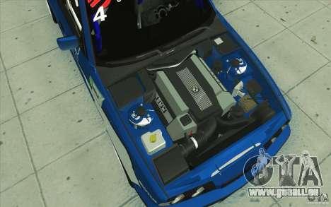 BMW E34 V8 pour GTA San Andreas vue de dessous