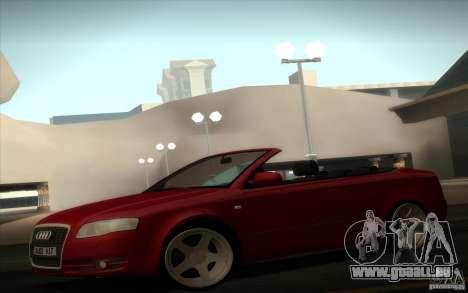 Audi A4 Cabrio pour GTA San Andreas sur la vue arrière gauche