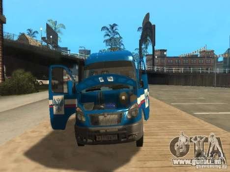 Courrier de Gazelle 2705 de Russie pour GTA San Andreas vue intérieure