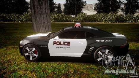 Chevrolet Camaro Police (Beta) pour GTA 4 est une gauche