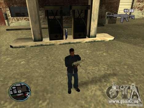 SA IV WEAPON SCROLL 2.0 pour GTA San Andreas cinquième écran