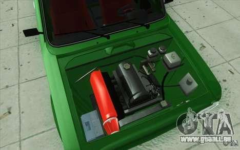VAZ 2101 Lada Sport für GTA San Andreas Unteransicht