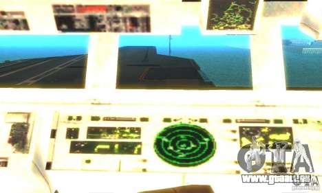 CVN-68 Nimitz pour GTA San Andreas troisième écran