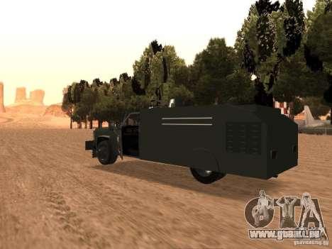 GMC SIERRA 3500 pour GTA San Andreas sur la vue arrière gauche