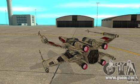 X-WING de Star Wars v1 pour GTA San Andreas vue intérieure