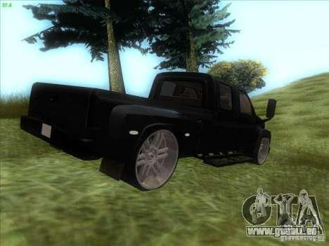 GMC C4500 Pickup DUB Style für GTA San Andreas zurück linke Ansicht