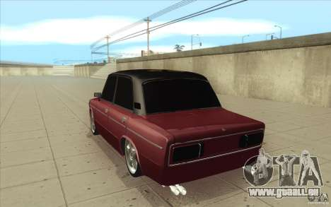 Lada VAZ 2106 pour GTA San Andreas sur la vue arrière gauche