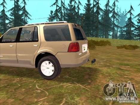 Lincoln Navigator pour GTA San Andreas vue intérieure