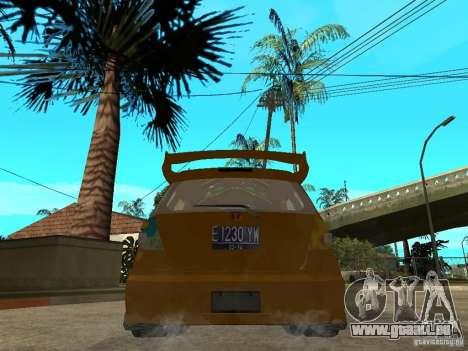 Honda Jazz Sport pour GTA San Andreas sur la vue arrière gauche