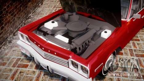 Dodge Monaco 1974 für GTA 4 Rückansicht