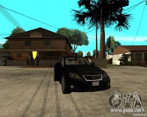 Lexus IS-F v2.0 pour GTA San Andreas vue arrière