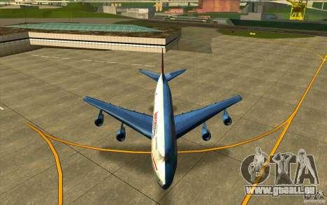 B-747 American Airlines Skin pour GTA San Andreas vue intérieure