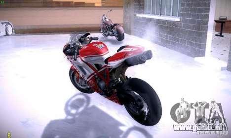 Ducati 1098 pour GTA San Andreas vue intérieure
