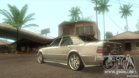 Mercedes-Benz E500 VIP Class für GTA San Andreas zurück linke Ansicht