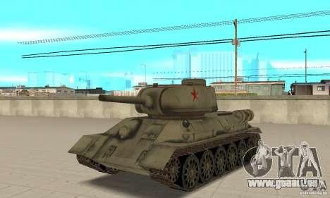 Réservoir T-34-85 pour GTA San Andreas