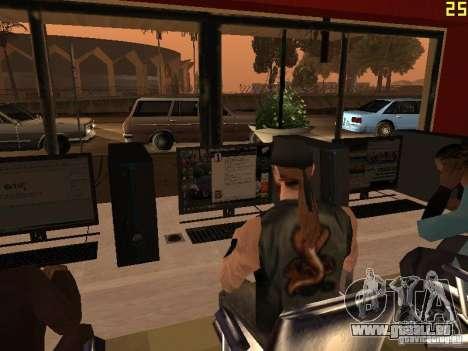 Ganton Cyber Cafe Mod v1.0 pour GTA San Andreas sixième écran