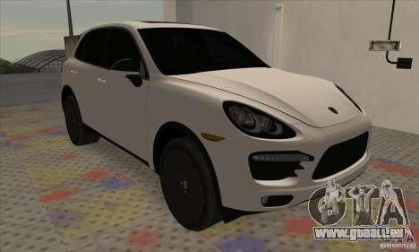 Porsche Cayenne Turbo Black Edition pour GTA San Andreas laissé vue