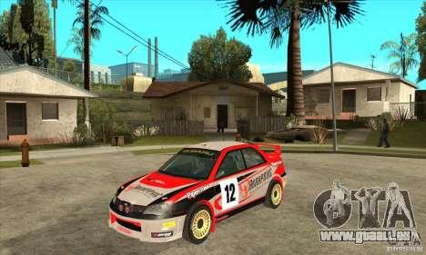 Subaru Impreza STi WRC wht2 pour GTA San Andreas laissé vue