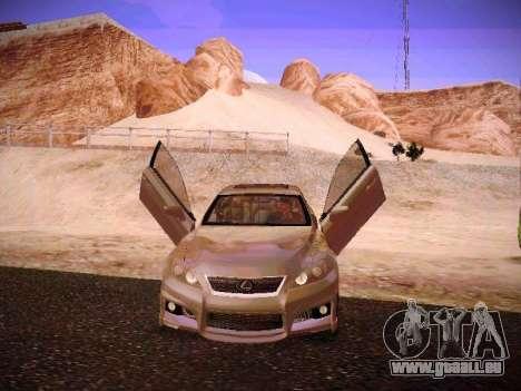 Lexus I SF pour GTA San Andreas vue de dessous