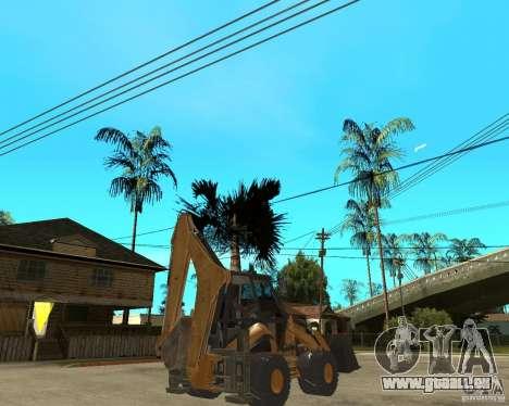 Lastik Tekerli Dozer pour GTA San Andreas sur la vue arrière gauche