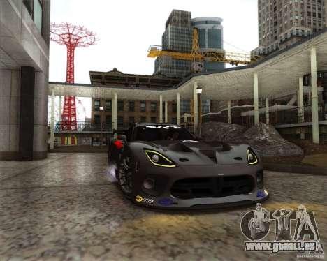 SRT Viper GTS-R V1.0 pour GTA San Andreas vue intérieure
