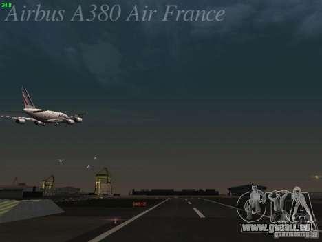 Airbus A380-800 Air France pour GTA San Andreas salon