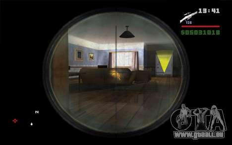Fusil Mosin pour GTA San Andreas troisième écran