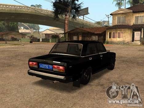 VAZ 21073 Service pour GTA San Andreas sur la vue arrière gauche