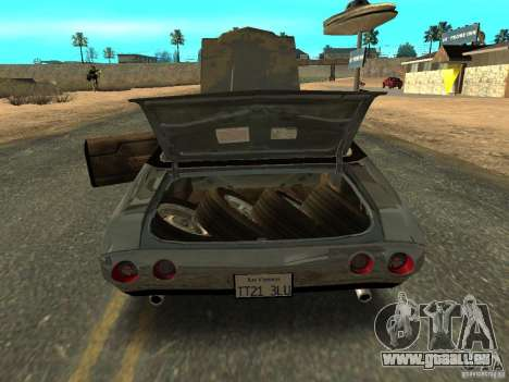 Chevrolet Chevelle Rustelle pour GTA San Andreas vue arrière