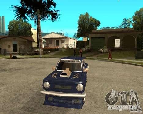 ZAZ-968 m STREET-Melodie für GTA San Andreas Rückansicht