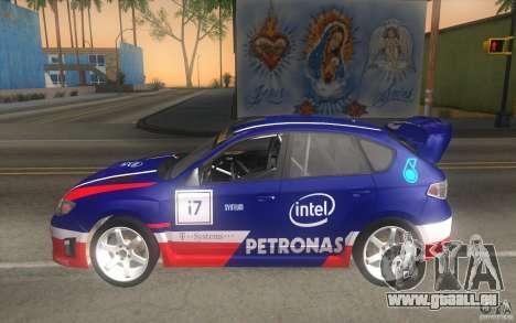 Nouveaux vinyles pour Subaru Impreza WRX STi pour GTA San Andreas vue de dessus