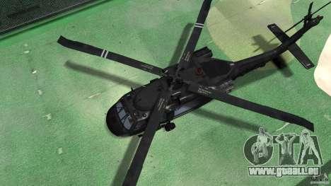 Sikorsky UH-60 Black Hawk für GTA 4 Rückansicht