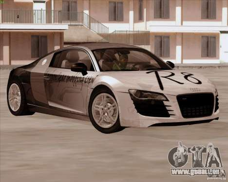 Audi R8 Production für GTA San Andreas Innenansicht