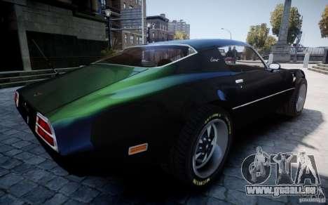 Pontiac Firebird 1971 pour GTA 4 vue de dessus