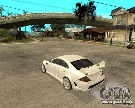 MERCEDES CLS 63 AMG TUNING pour GTA San Andreas laissé vue