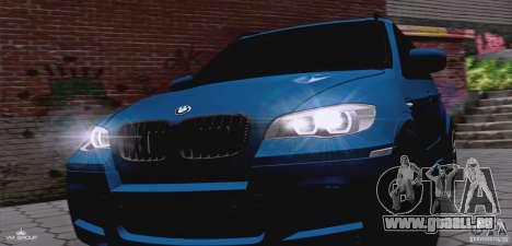 BMW X5M 2013 v1.0 pour GTA San Andreas vue intérieure